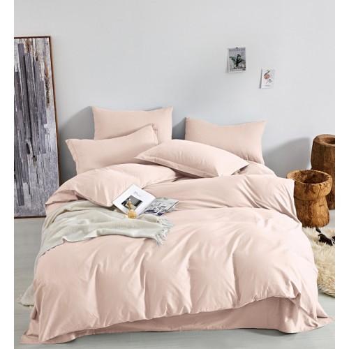 Постільна білизна однотонна єгипетська бавовна (сатин) Рожева хмаринка Word of Dream